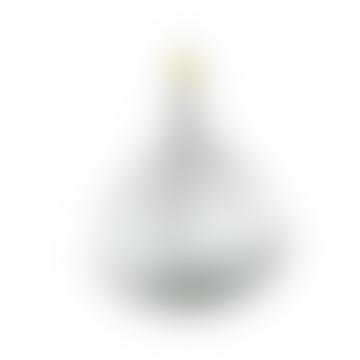 Grande lampe en verre recyclé Baba avec abat-jour en jute en pierre extra large