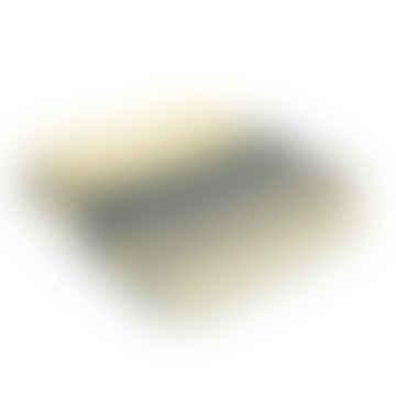 Nightfall Illusion Stripe Pure New Wool  Throw 150cm x 183cm
