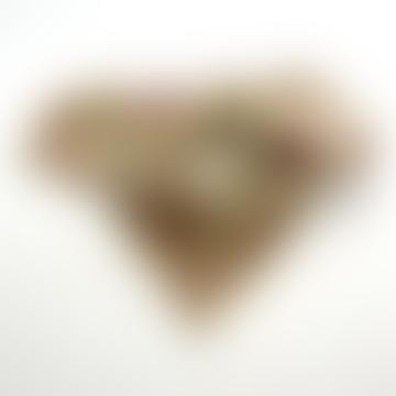 Apaches Collections Small Vanilla Petit Foulard Manika Heart Scarf