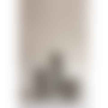 Set of 7 Grey Column Concrete Candle Stick Holders