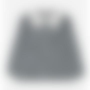 Collar Detail Checked Khaki Blouse