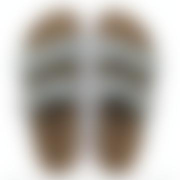 Arizona Soft Footbed Suede Leather Light Blue Sandal