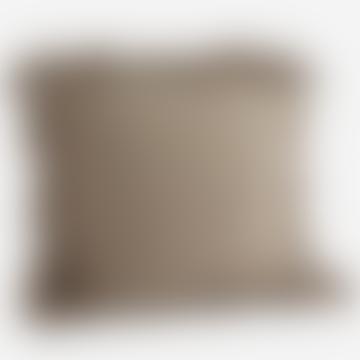 Madam Stoltz Greige Cushion With Tassels 60 X 60