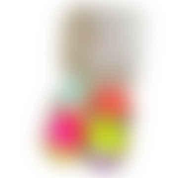 Dip Dye Neon Ostereier Kerzenschachtel Set mit 4 Kerzen