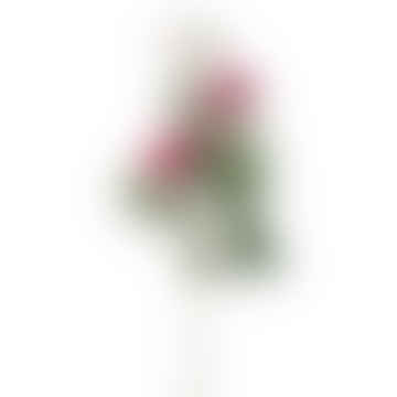 Rose Spray Faux Flowers Magenta