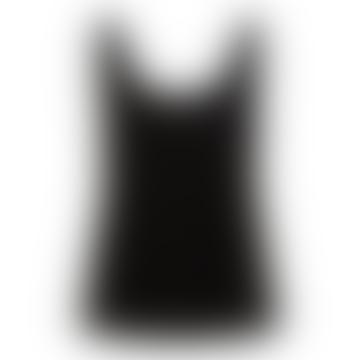 Anna Black Vest Top