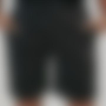 Organic Cotton 90s Jogger Shorts in Black