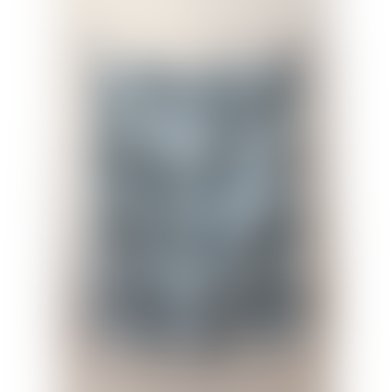 Recycled Wool Blanket Stewart Muted Blue Tartan
