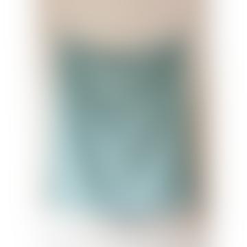 Recycled Wool Blanket In Pistachio Green Herringbone