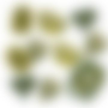 3 Metre Long Hand Printed Spring Hedgerow Garland