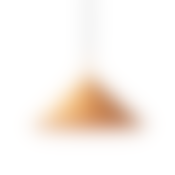 Triangular Peach Pendant Light In Moulded Metal