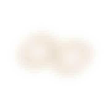A Weathered Penny  Luna Hoop Earrings in Gold