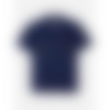 Chintan Emb 03 Regular Collar Boxy Fit Short Sleeve Shirt Indigo