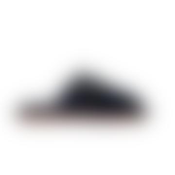 Dark Grey Zaria Calf Suede Sandal