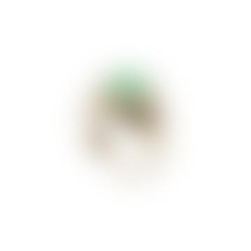 Clover Ring Gold Green