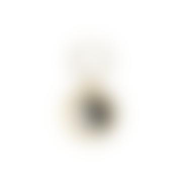 Yin Yang Earring Gold Black