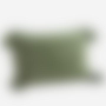 Jade Striped Cushion With Tassels