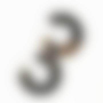 Creole Toyko Medium Hoop Earrings Caramel