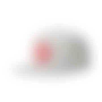 Casquette Oath III - Gris Chiné / Rouge Lave