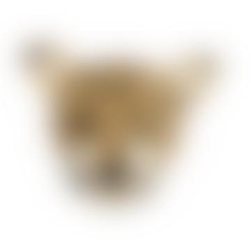 Fiona Walker England Felt Leopard Head Wall Decor