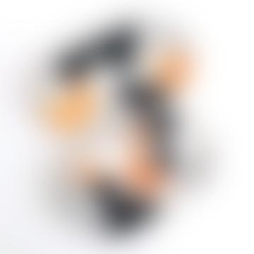 Tray Terrazzo Mix Shapes Orange Black White