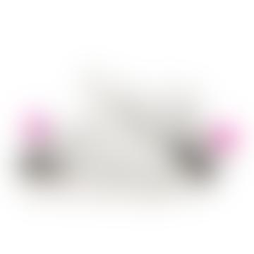 Luna Sneakers Soft White Fuxia