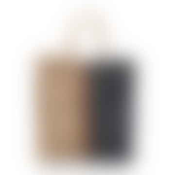 Jute Poresh Tote Bag Natural Navy Orange Stripe