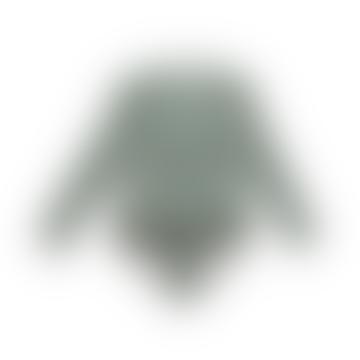 Liewood Sille Frilled Long Sleeve Swimsuit In Garden Green Sandy Stripe