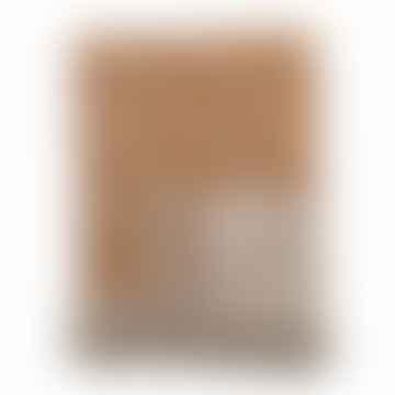 Jeté Cianna en coton recyclé marron