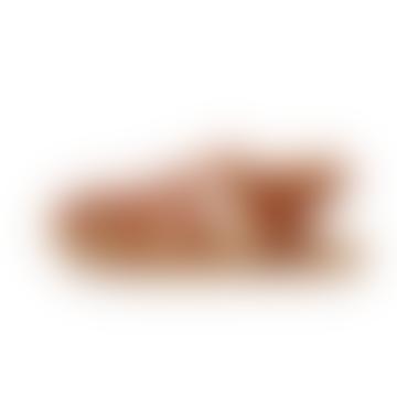 Elba Mens Leather Sandal Apricot