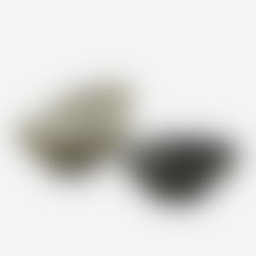Ensemble de 3 bols en spirale en grès