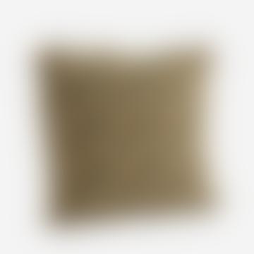 Housse de coussin imprimée sable et moutarde