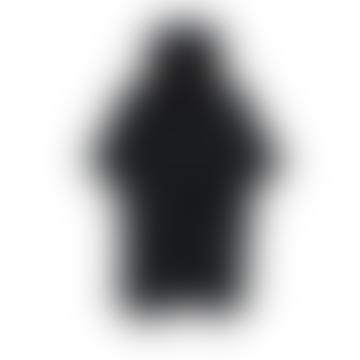 Black Women's Sweatshirt Modern Poncho Hoodie