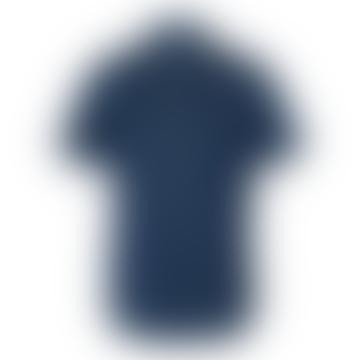 Les Deux Hayes Chambray Shirt Dark Navy