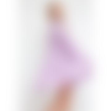 Lilac Pleated Mini Dress