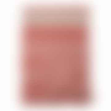 Plaid Verona, rouge, coton recyclé