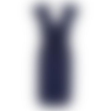Sugarhill Brighton Hetty Jersey Dress Navy Stargazer