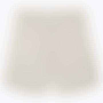 Holm Striped Cotton Shorts Linen Blend Natural