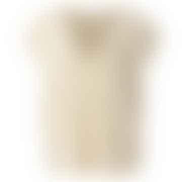 V-Neck Sweater W Button Detail Egg Shell