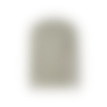 Les Deux Etienne Cashton Knit Light Grey Melange / Mint White