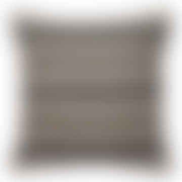 Black with Gold Lurex Cushion, 50x50 cm