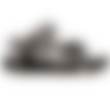 Trekky Sandals Black White Gingham
