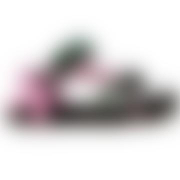 Trekky Sandals Pink Green Bandana