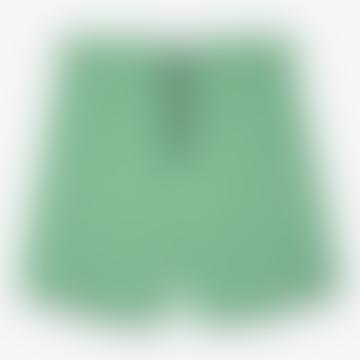 Noden Seersucker Swimshorts Green Stripe