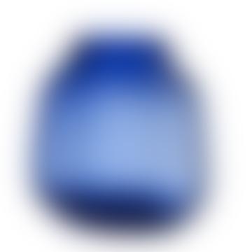 Step Vase Blue H23cm