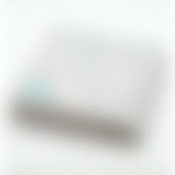 Coastal Grey Portolan Recycled Cotton Blanket Double