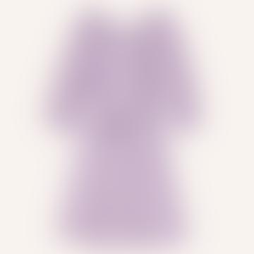 Lilac Gingham Print Anemone Dress