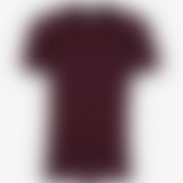 Oxbald-roter Baumwoll-Bordeaux-T-Shirt