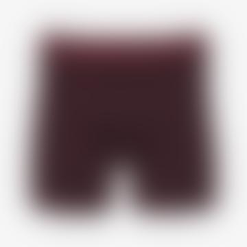 Uni-Boxershorts aus Baumwolle in Ochsenblut