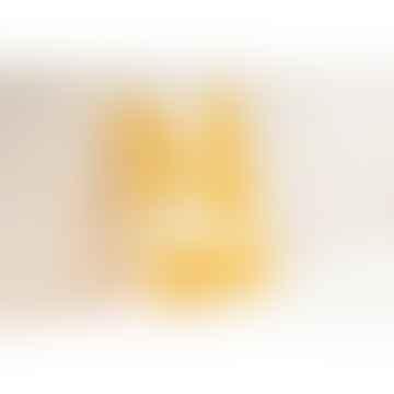 Ola Limited Edition Medium Layflat Weekly Planner, Blocks Print in Mustard - Calendar Insert: 2021/2022